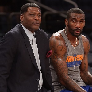 Larry Johnson (left) with New York Knicks forward Amar'e Stoudemire.