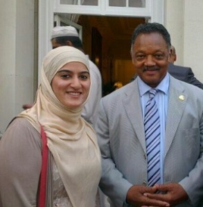 Rimla Akhtar with the Rev. Jesse Jackson in 2013.