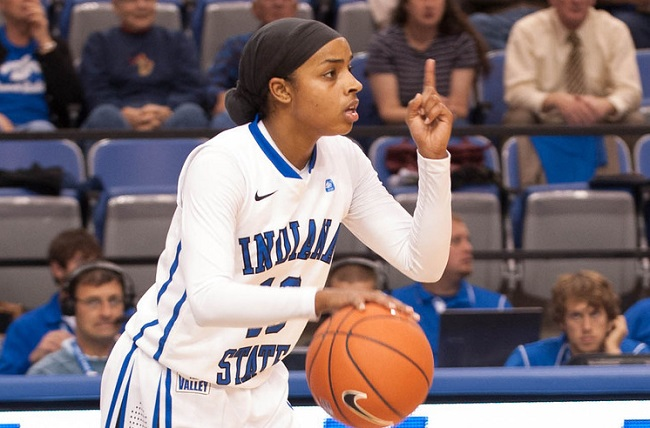 Bilqis Abdul-Qaadir led Indiana State in scoring as a senior with 14.2 points per game. (Photo: ISU Athletic Media Relations)