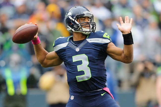 Russell Wilson, quarterback of the Seattle Seahawks.