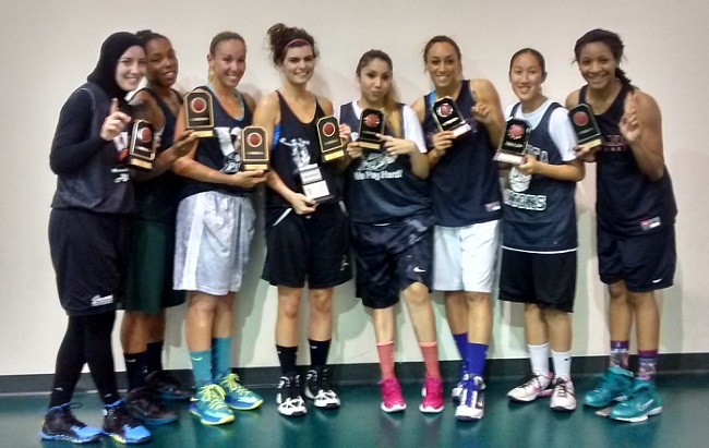 Kaljo's team won the Steve Peters Ballers Only summer league title in June.
