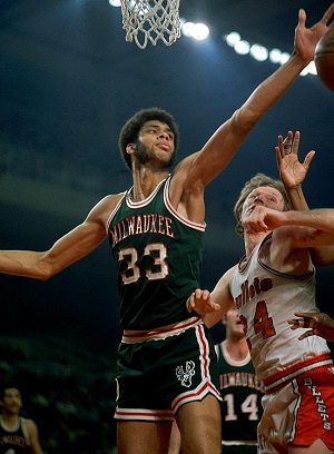 Abdul-Jabbar won his first NBA title with Milwaukee in 1971, then won five more with the Lakers.