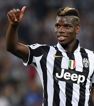 Pogba is in his third season with Juventus in Italy's Serie A.