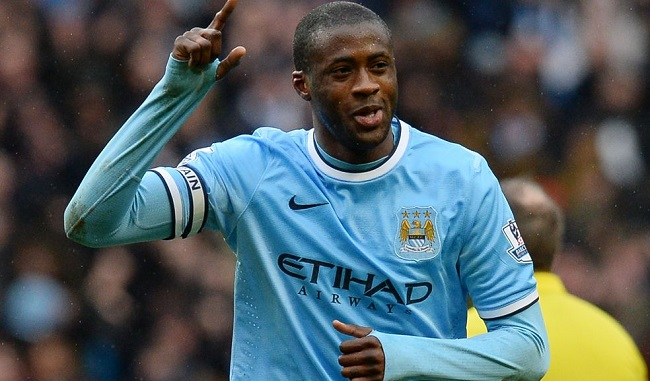 Yaya Toure plays for Manchester City in England's Premier League.