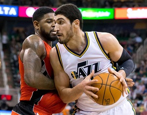 Enes Kanter averaged 13.8 points with the Jazz this season.