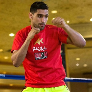 Amir Khan is 30-3 with 19 knockouts as a pro.