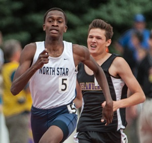 Mohammed was a state champion in the 800 meters in high school.