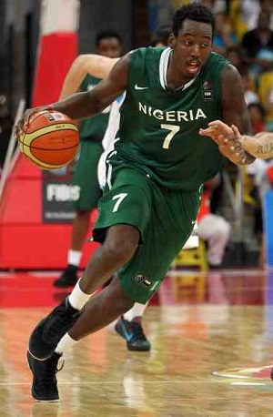 Al-Farouq Aminu with the Nigerian national team.