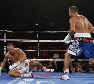 Mohammedi couldn't withstand Kovalev's heavy punches.