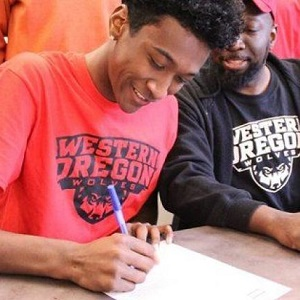 Malik Abdul-Haqq signs a National Letter of Intent to attend Western Oregon University.