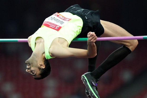 Majd Eddin Ghazal cleared 2.36 meters in Beijing.