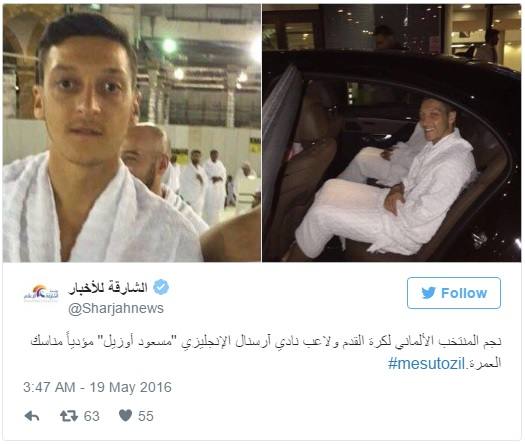 Image result for Mesut Ozil ramadan