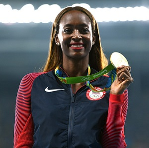 Dalilah Muhammad won gold in her Olympic debut.