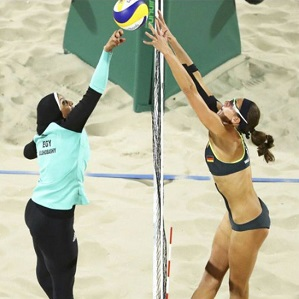 Egypt's Doaa Elghobashy (left).